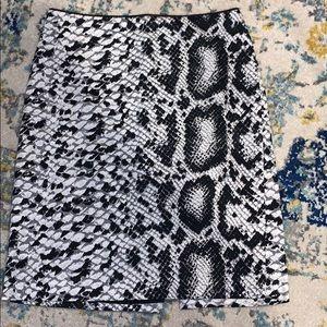 White house black market snakeskin pencil skirt!